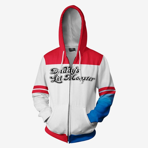 Dc Comics - Suicide Squad Harley Quinn Cosplay Hoodie Jacket
