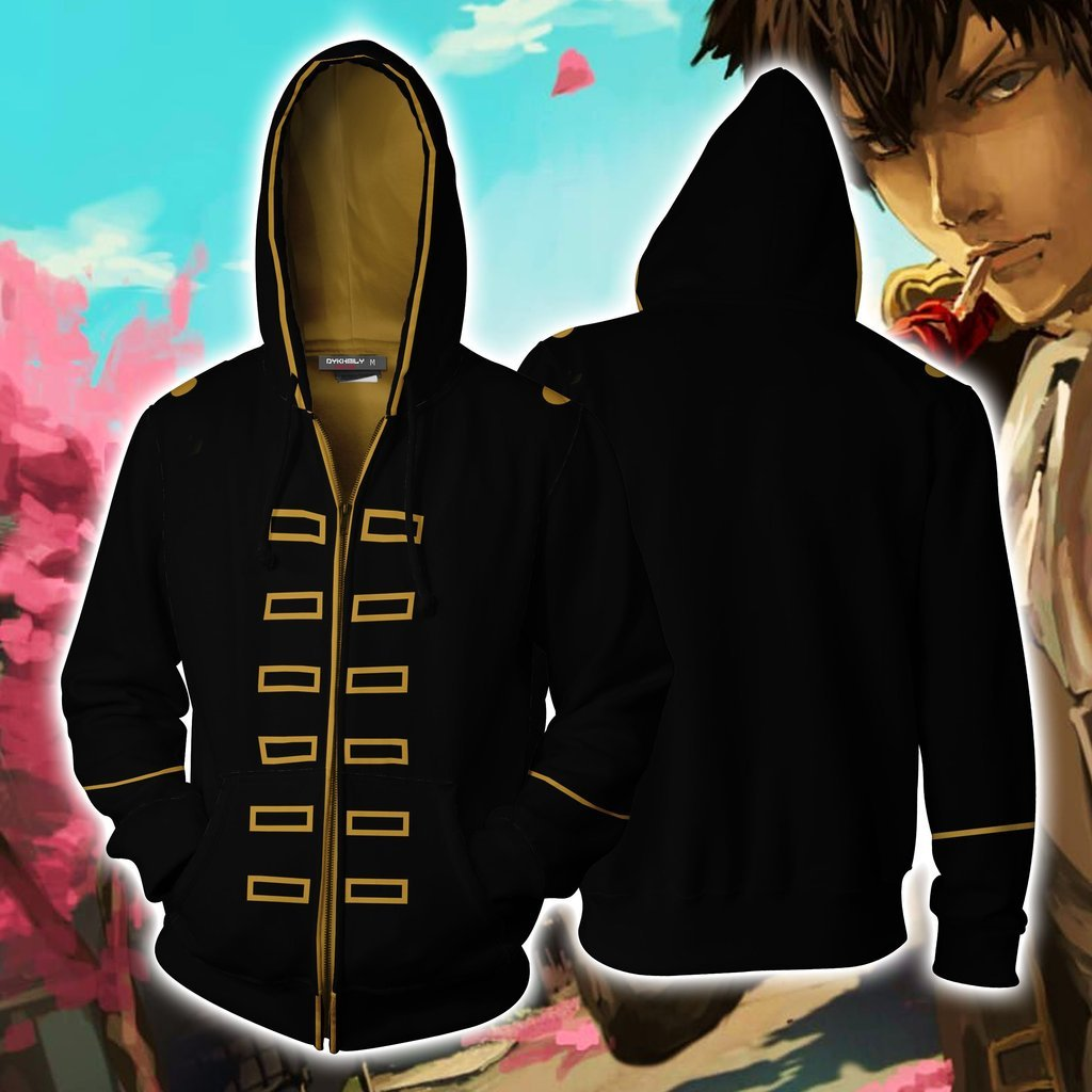Gintama Hijikata Toushirou Hoodie Cosplay Jacket Zip Up