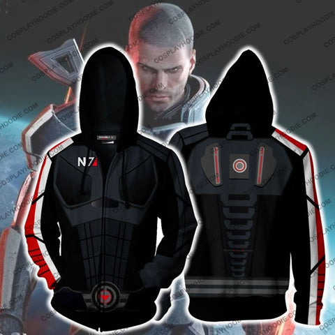 Image of Mass Effect N7 Armor Hoodie Cosplay Jacket Zip Up