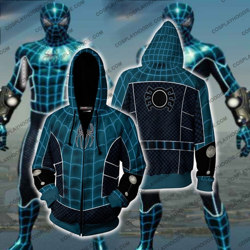 Spider-Man Fear Itself Cosplay Ps4 Zip Up Hoodie Jacket