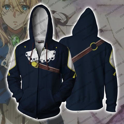 Image of Violet Evergarden Hoodie Cosplay Jacket Zip Up