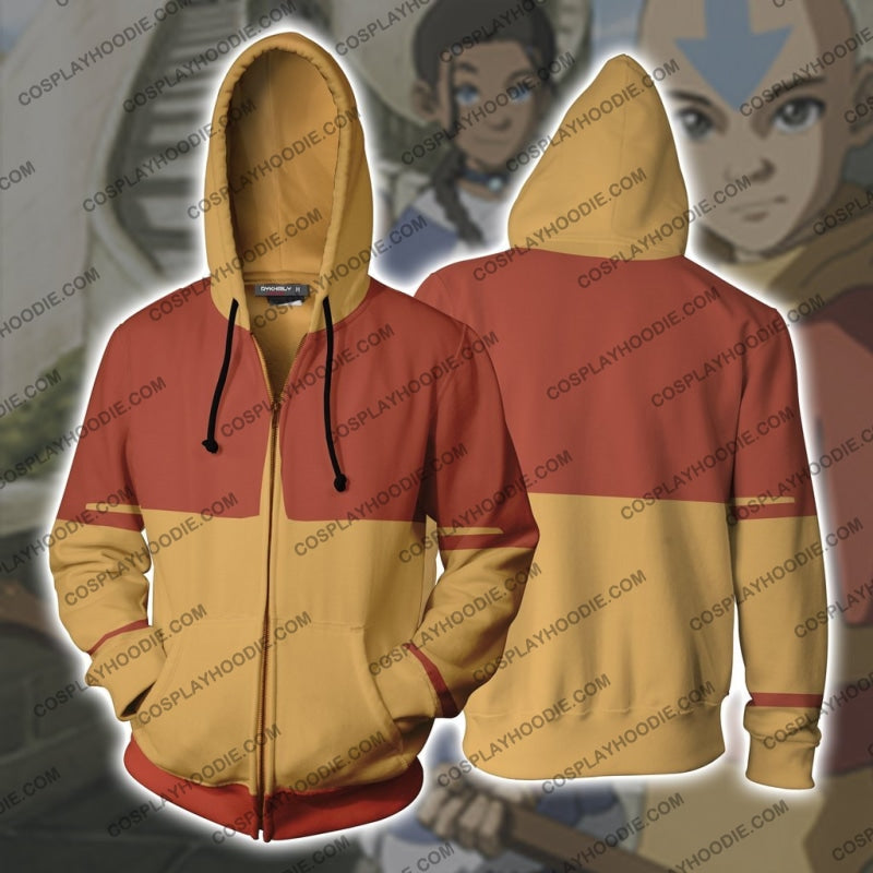 The Last Airbender Aang Hoodie Cosplay Jacket Zip Up