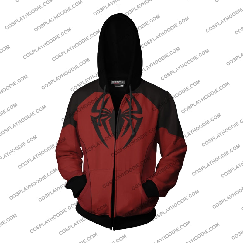 Scarlet Spider Ii Cosplay Ps4 New Look Zip Up Hoodie Jacket