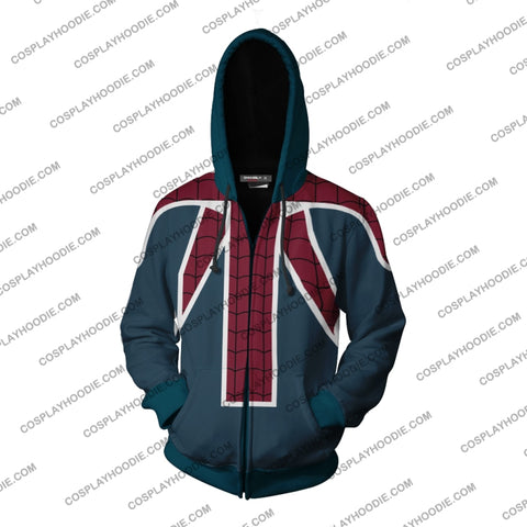 Image of Spider-Uk Cosplay Ps4 New Look Zip Up Hoodie Jacket