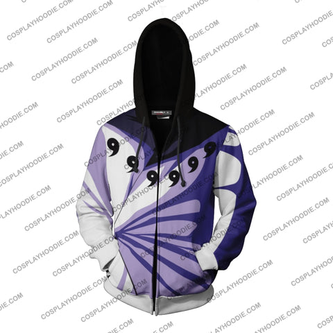 Naruto Madara Uchiha 6 Paths Hoodie Cosplay Jacket Zip Up