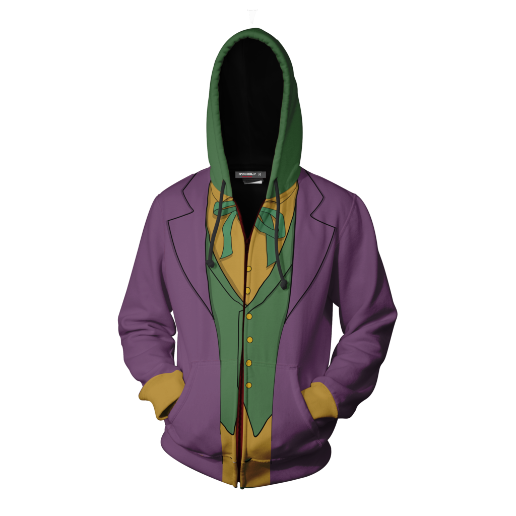 Batman Joker Hoodie Cosplay Jacket Zip Up