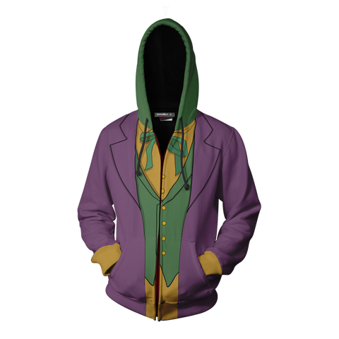 Image of Batman Joker Hoodie Cosplay Jacket Zip Up