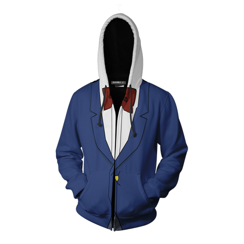 Detective Conan Hoodie Cosplay Jacket Zip Up