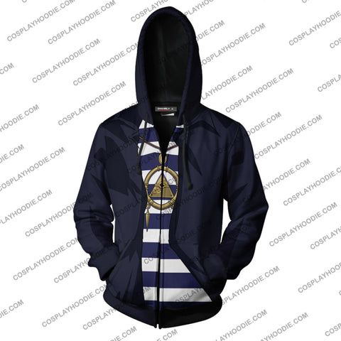 Image of Yu-Gi-Oh! Ryo Bakura Hoodie Cosplay Jacket Zip Up