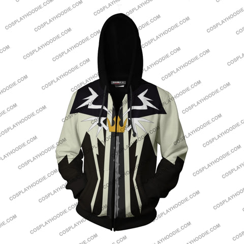 Kingdom Hearts Sora Halloween Town Hoodie Cosplay Jacket Zip Up