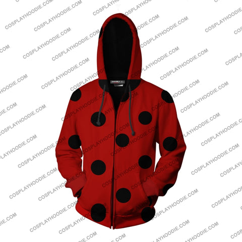 Ladybug Cosplay Miraculous Tales Of & Cat Noir Zip Up Hoodie Jacket