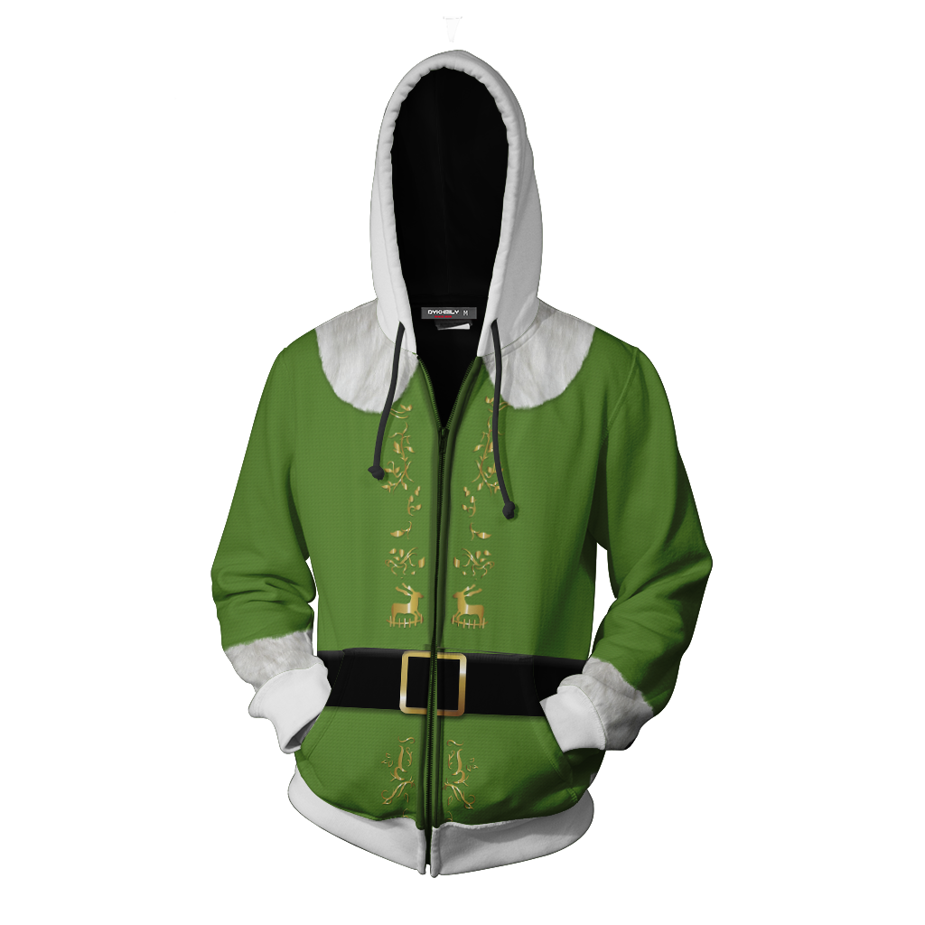 Elf 2003 Buddy Hoodie Cosplay Jacket Zip Up