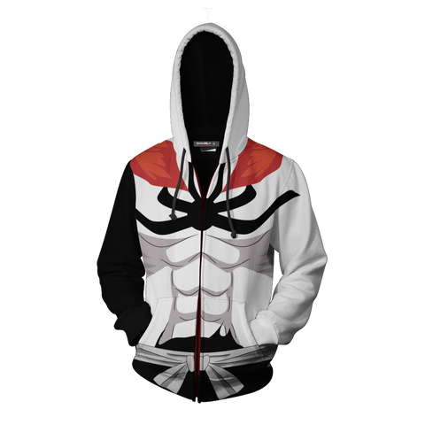 Bleach Vasto Lorde Ichigo Hoodie Cosplay Jacket Zip Up