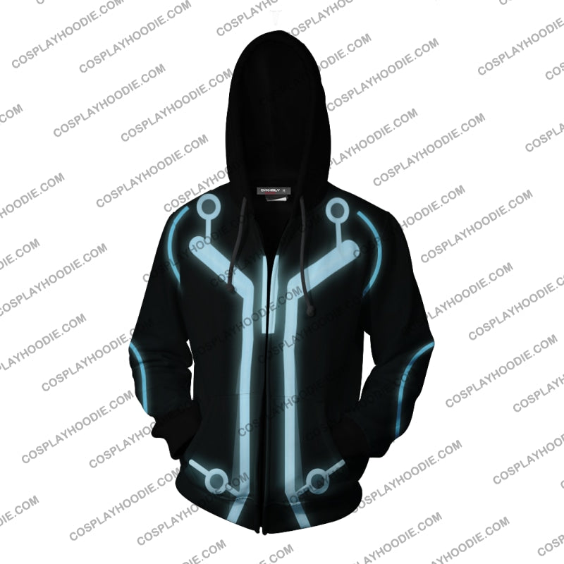 Tron Legacy Sam Flynn Hoodie Cosplay Jacket Zip Up