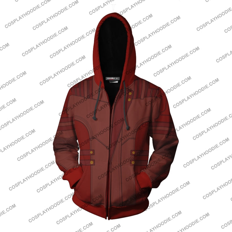Guardians Of The Galaxy Vol. 2 Star-Lord Hoodie Cosplay Jacket Zip Up