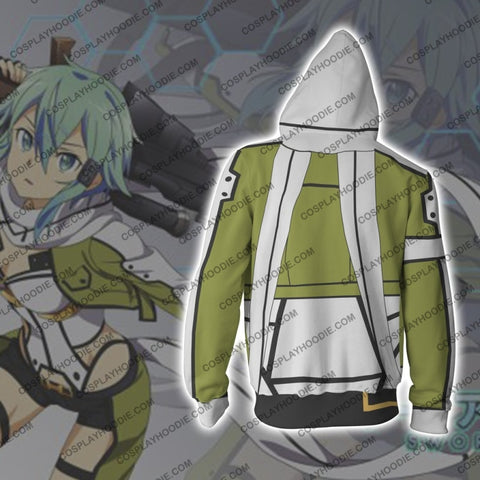 Image of Sinon Sword Art Online Hoodie Cosplay Jacket Zip Up