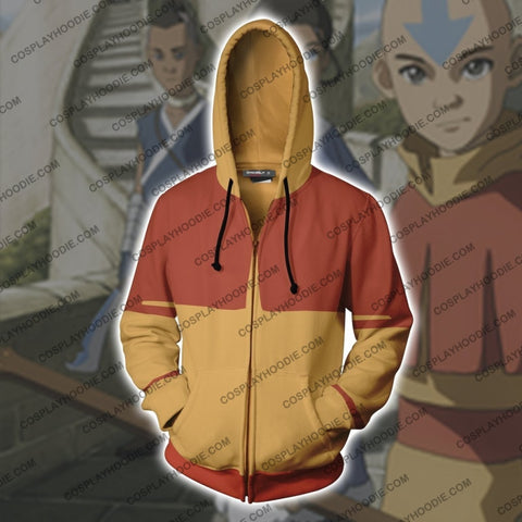 Image of The Last Airbender Aang Hoodie Cosplay Jacket Zip Up