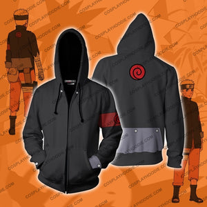 The Last Movie Naruto Hoodie Cosplay Jacket Zip Up