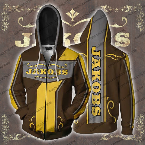 Borderlands Jakobs Zip Up Hoodie Jacket Cosplay