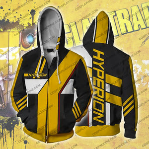 Borderlands Hyperion Zip Up Hoodie Jacket Cosplay