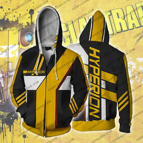 Image of Borderlands Hyperion Zip Up Hoodie Jacket Cosplay