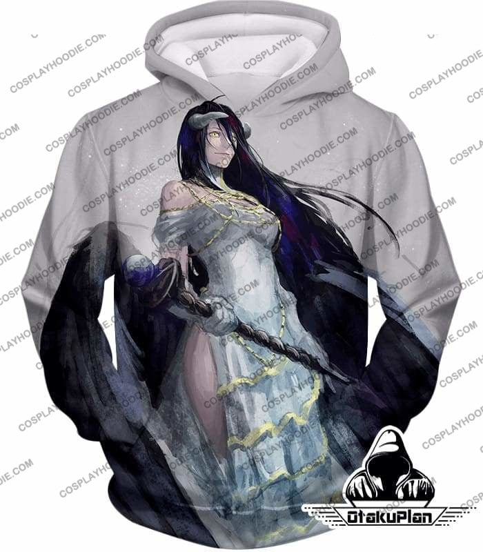 Overlord Extremely Evil Albedo Cool Action Anime White T-Shirt Ol0015 - Hoodie / Us Xxs (Asian Xs) - T-Shirt