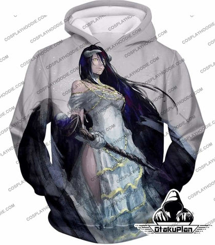 Image of Overlord Extremely Evil Albedo Cool Action Anime White T-Shirt Ol0015 - Hoodie / Us Xxs (Asian Xs) - T-Shirt