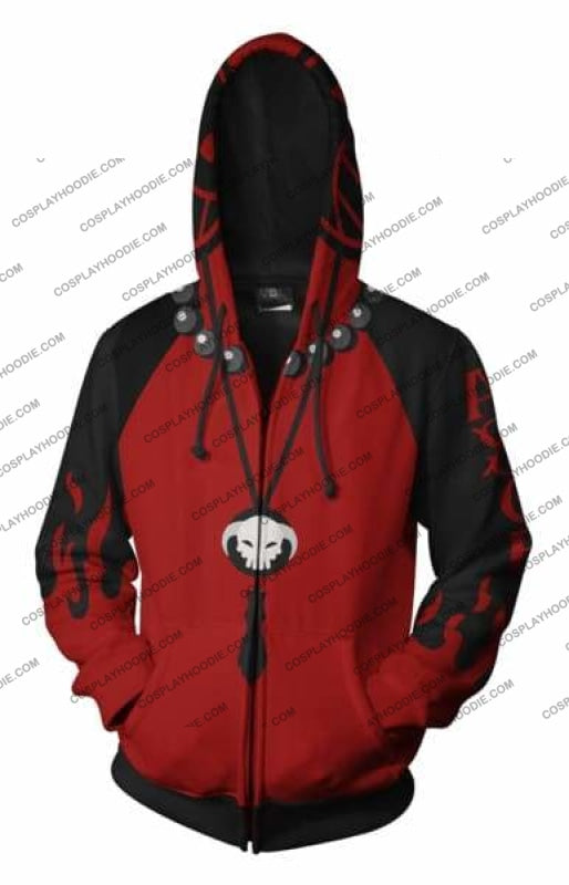 One Piece Portgas D. Ace Zip Up Hoodie Jacket Cosplay