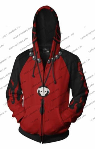 Image of One Piece Portgas D. Ace Zip Up Hoodie Jacket Cosplay