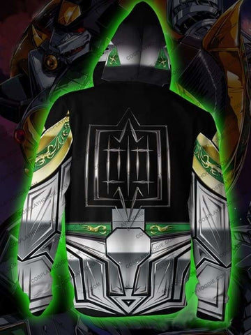 Image of Power Rangers Dragonzord Zip Up Hoodie Jacket Cosplay