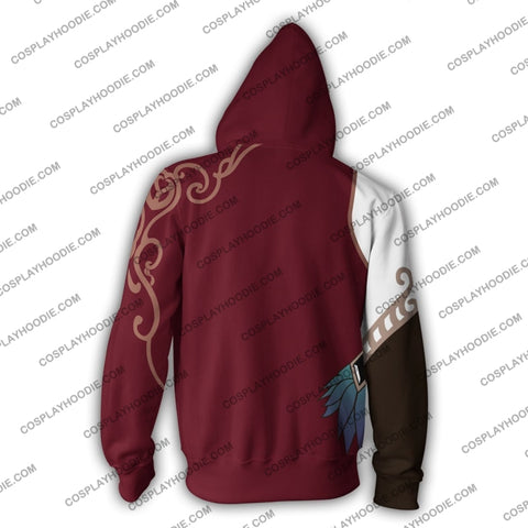 Image of Cinder Zip Up Hoodie Cosplay Jacket