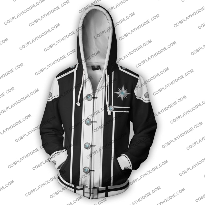 D. Gray Man Yu Kanda Zip Up Hoodie Cosplay Jacket