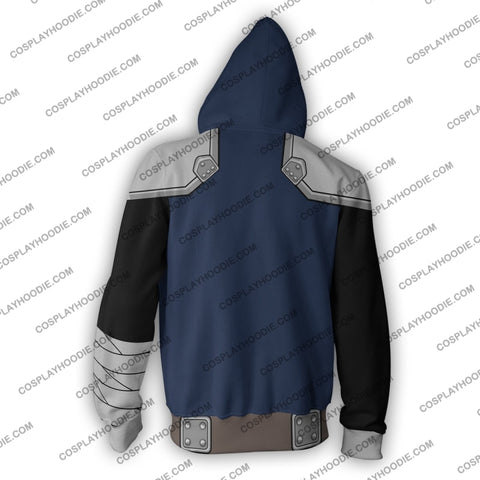 Image of Kenshiro Fist Of The North Star Zip Up Hoodie Cosplay Jacket