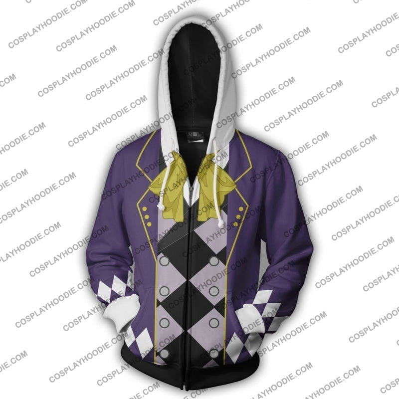 Black Butler Joker Zip Up Hoodie Cosplay Jacket