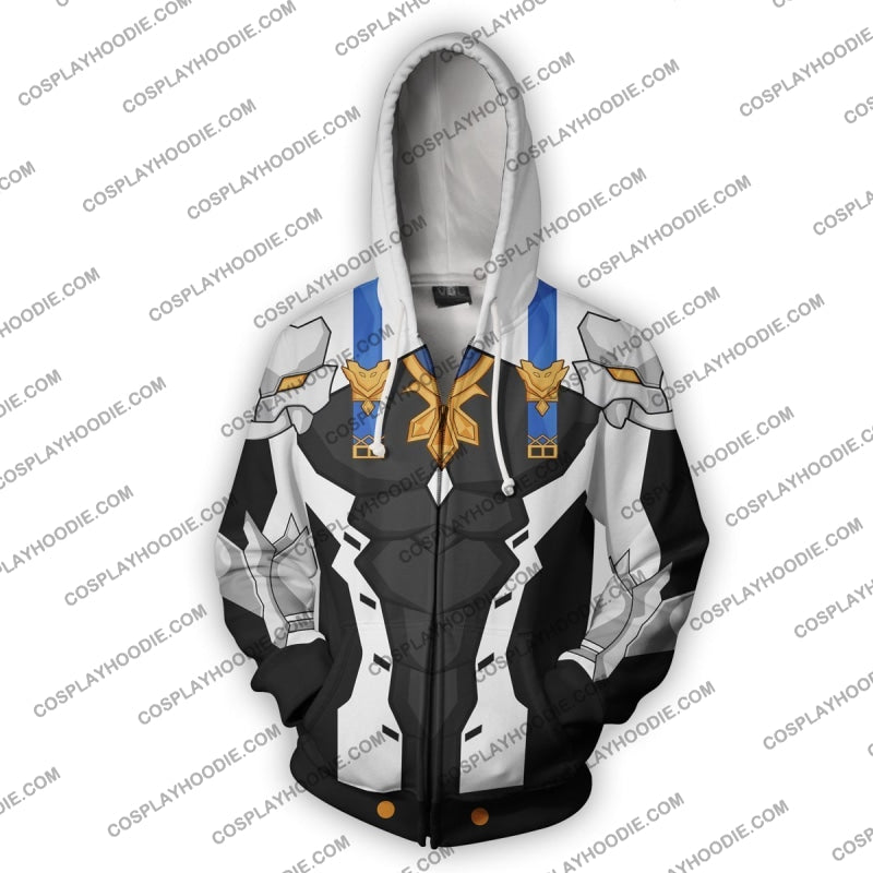 Chung Dc Elsword Zip Up Hoodie Cosplay Jacket