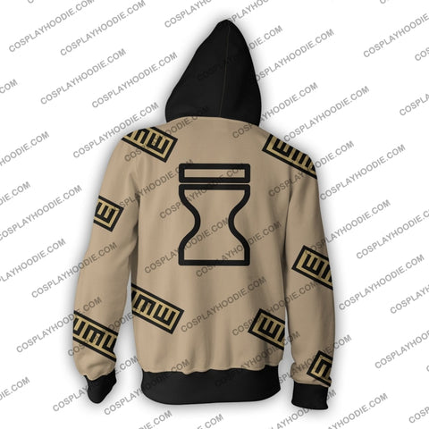 Naruto Gaara Zip Up Hoodie Cosplay Jacket