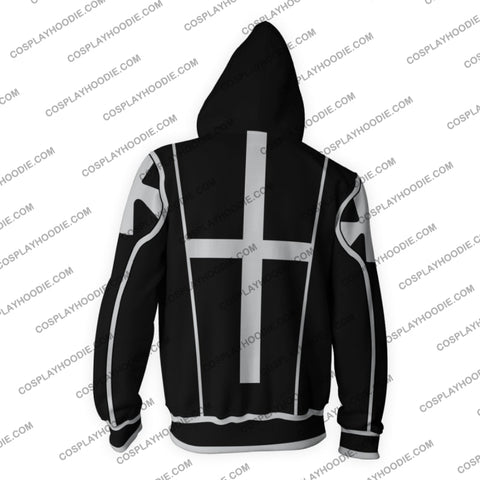 D. Gray Man Black Uniform Zip Up Hoodie Cosplay Jacket