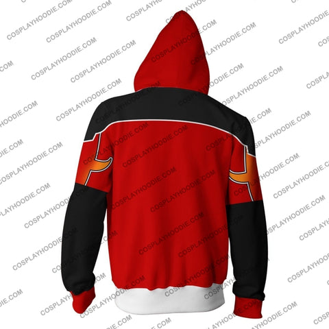Kingdom Hearts Sora Valor Form Zip Up Hoodie Cosplay Jacket