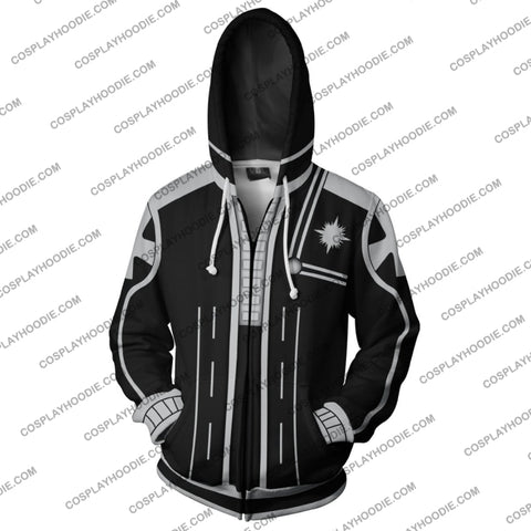 Image of D. Gray Man Black Uniform Zip Up Hoodie Cosplay Jacket