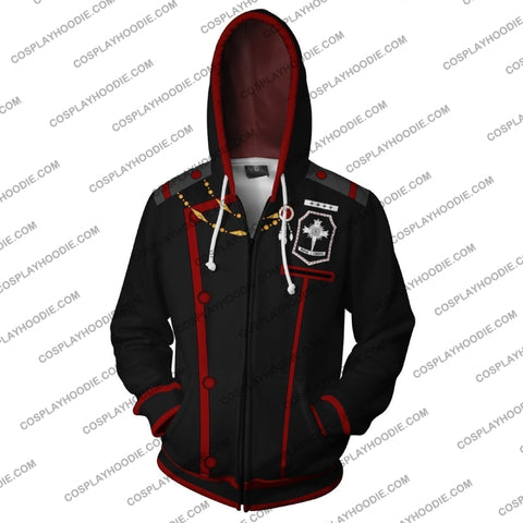Image of D. Gray Man Allen Walker Zip Up Hoodie Cosplay Jacket