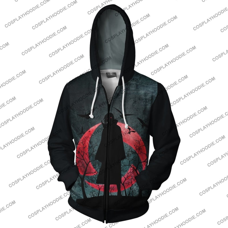 Itachi Uchiha Sharingan Zip Up Hoodie Cosplay Jacket