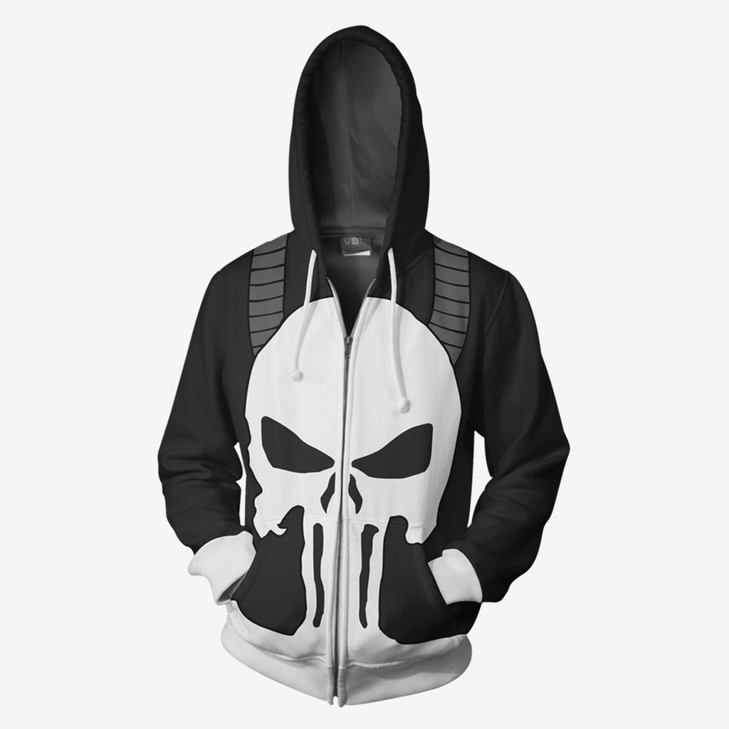 Marvel Comics - Frank Castle Punisher Cosplay Hoodie Jacket