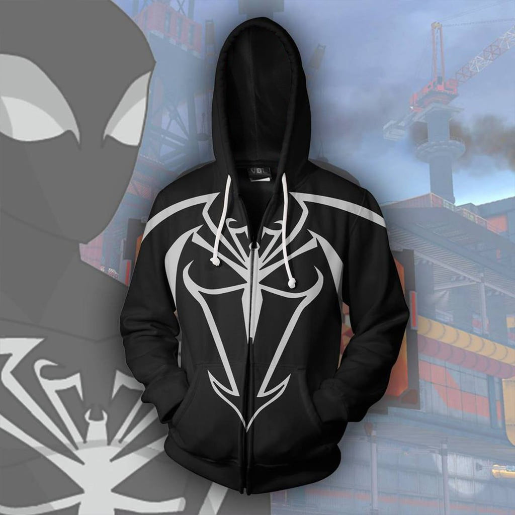 Marvel Comics - Unlimited Symbiote Spider-Man Cosplay Hoodie Jacket