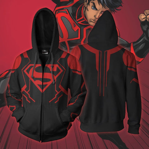 Image of Dc Comics - Superboy Cosplay Hoodie Jacket