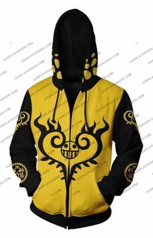 One Piece Trafalgar Law Zip Up Hoodie Jacket Cosplay