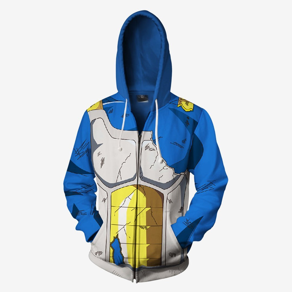 Dragon Ball Z - Vegeta Battle Cosplay Hoodie Jacket