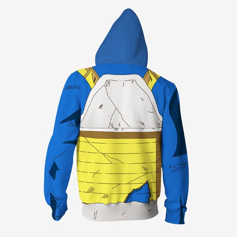 Image of Dragon Ball Z - Vegeta Battle Cosplay Hoodie Jacket