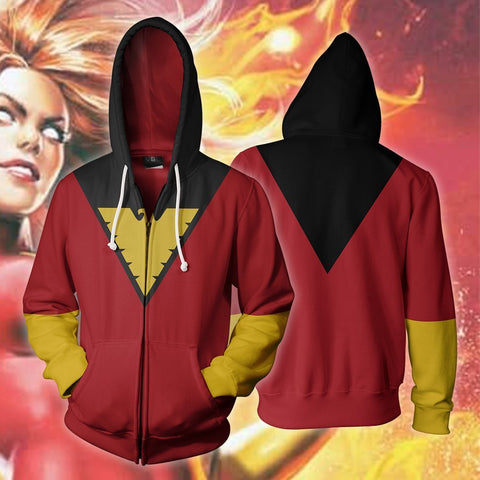 Image of Marvel Comics - X-Men Dark Phoenix Cosplay Hoodie Jacket