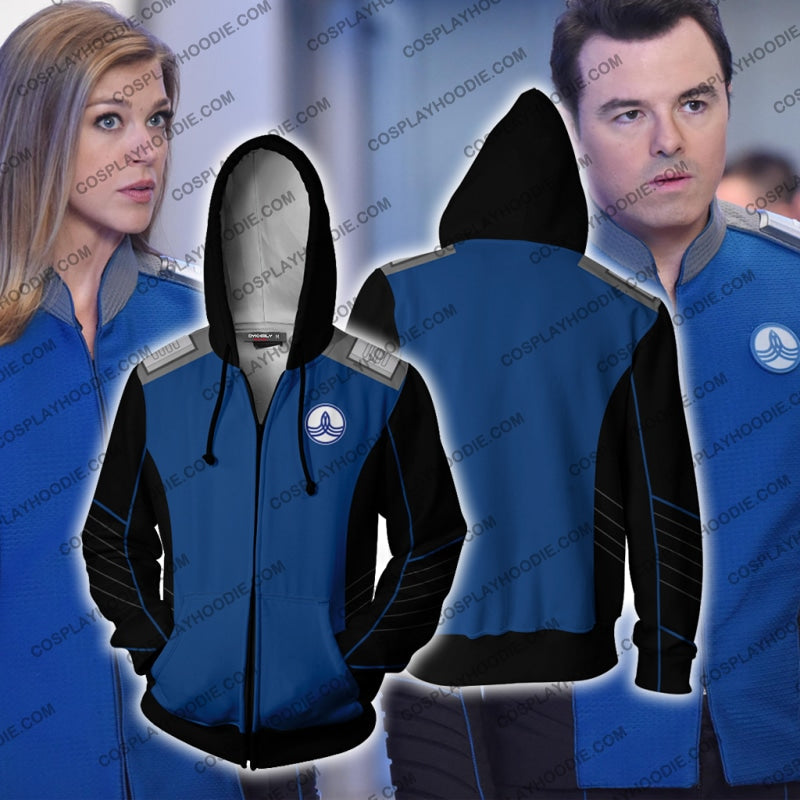 The Orville Ed Mercer Captain Hoodie Cosplay Jacket Zip Up