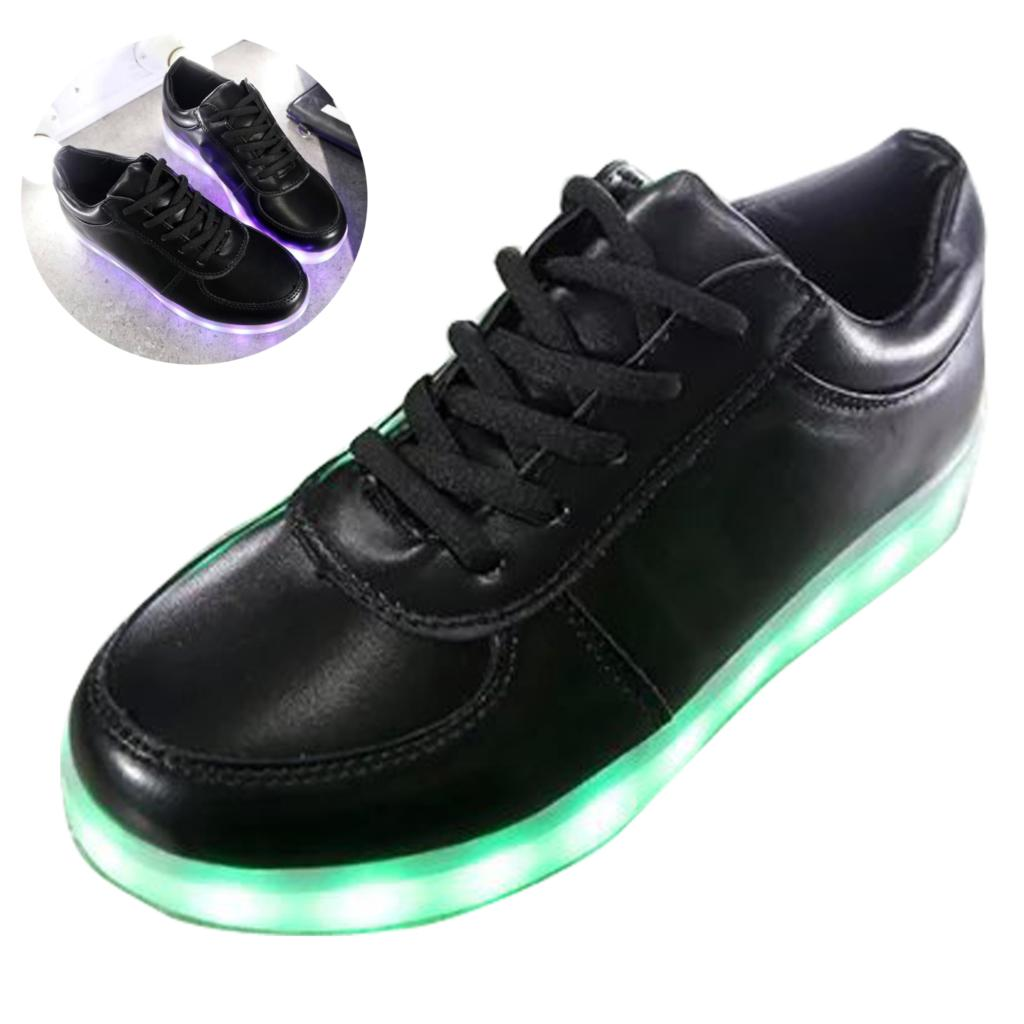 2016 fluorescent LED luminous shoes unisex sneakers men sneakers USB charging light shoes colorful glowing leisure flat shoes